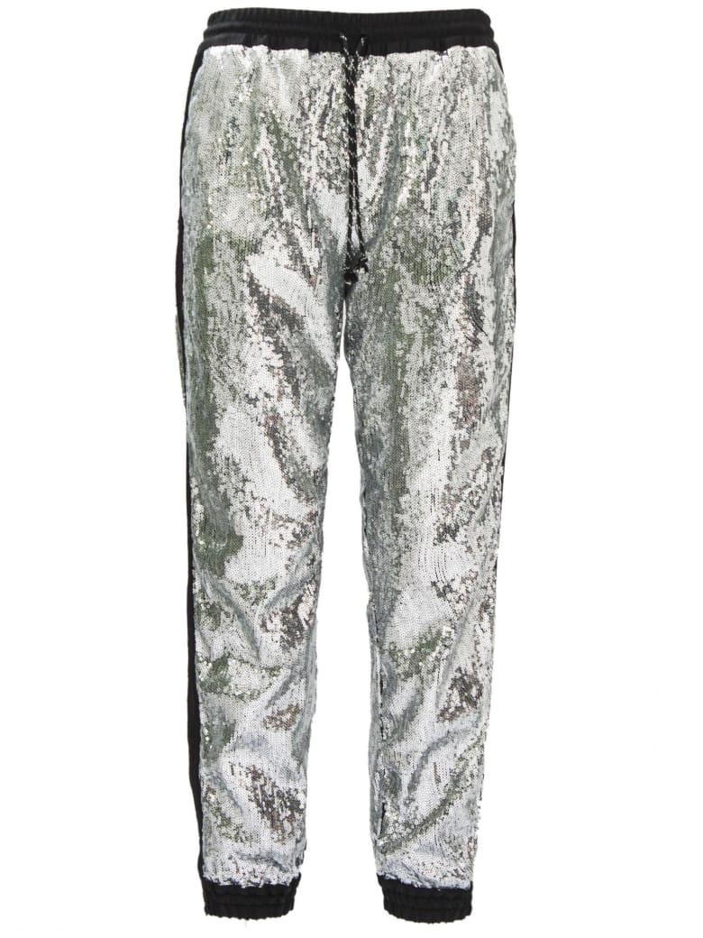 Christian Pellizzari Metallic Silver Regular Jogging Pants. - Argento