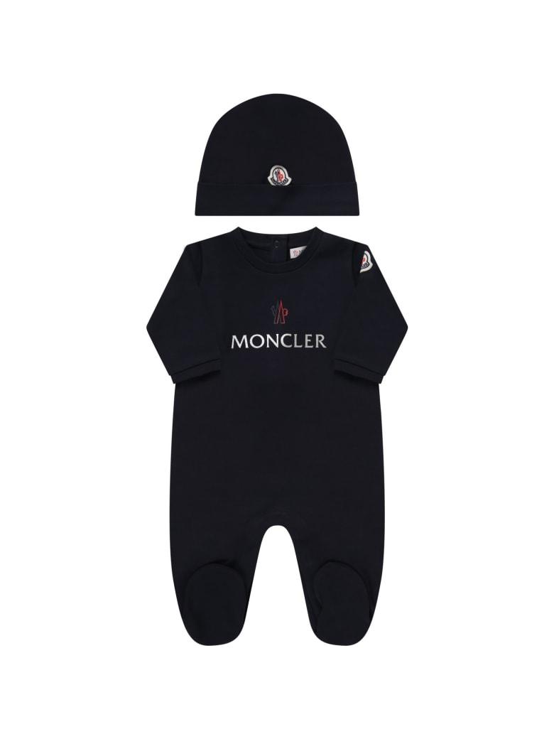 Moncler Blue Set For Babykids - Blu