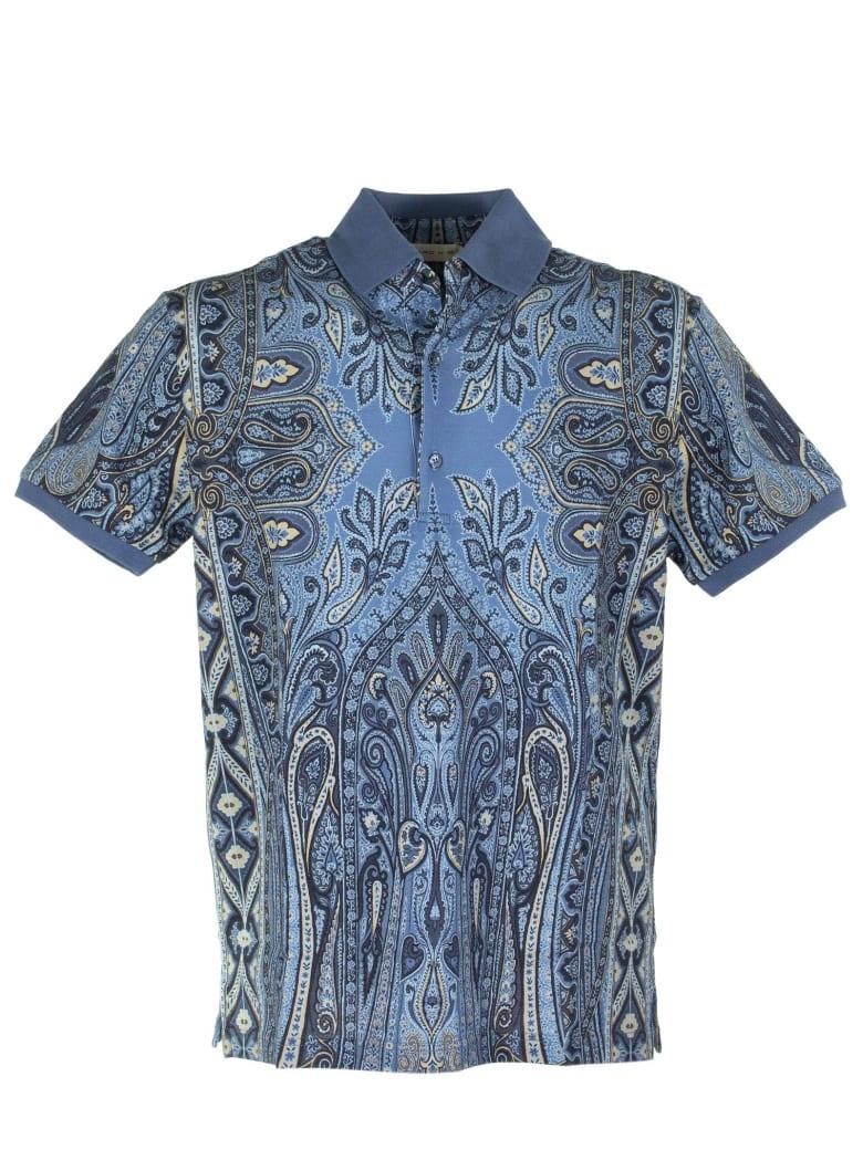 Etro Paisley Polo Shirt - Light Blue