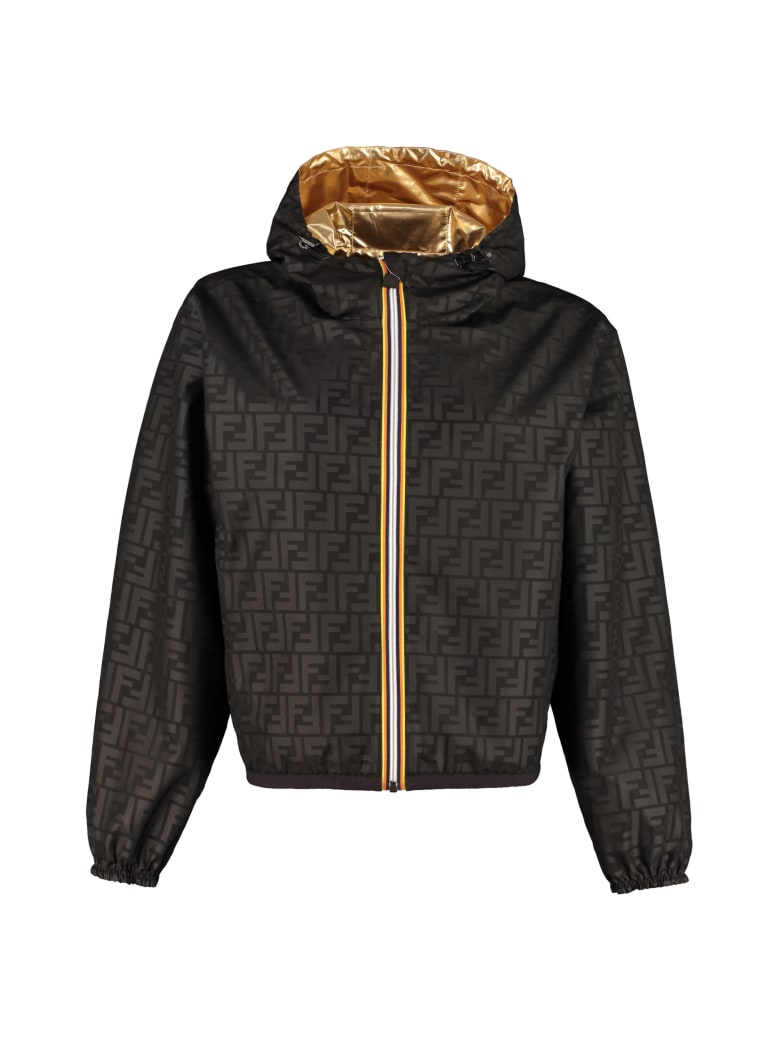 Fendi Reversible Windbreaker-jacket - Fendi X K-way - Gold