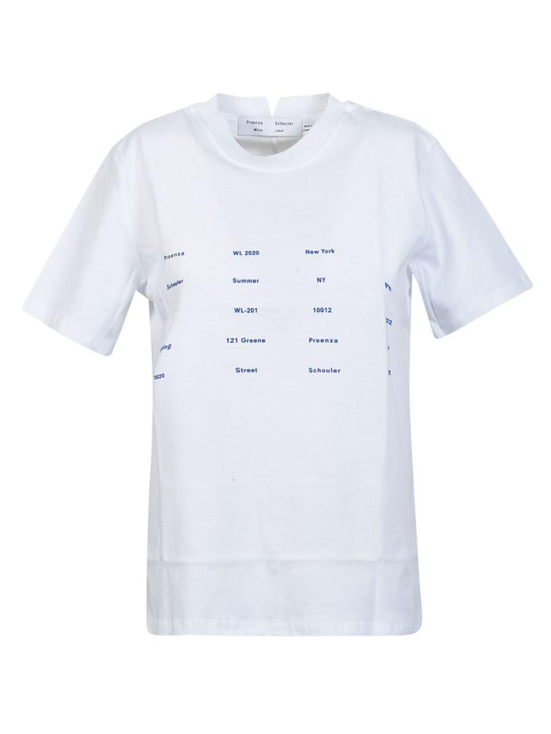 Proenza Schouler Printed Front T-shirt - White