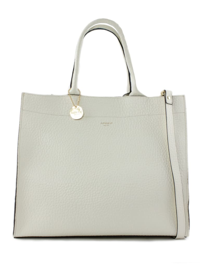 Avenue 67 Irene Shopper In White Leather - Panna