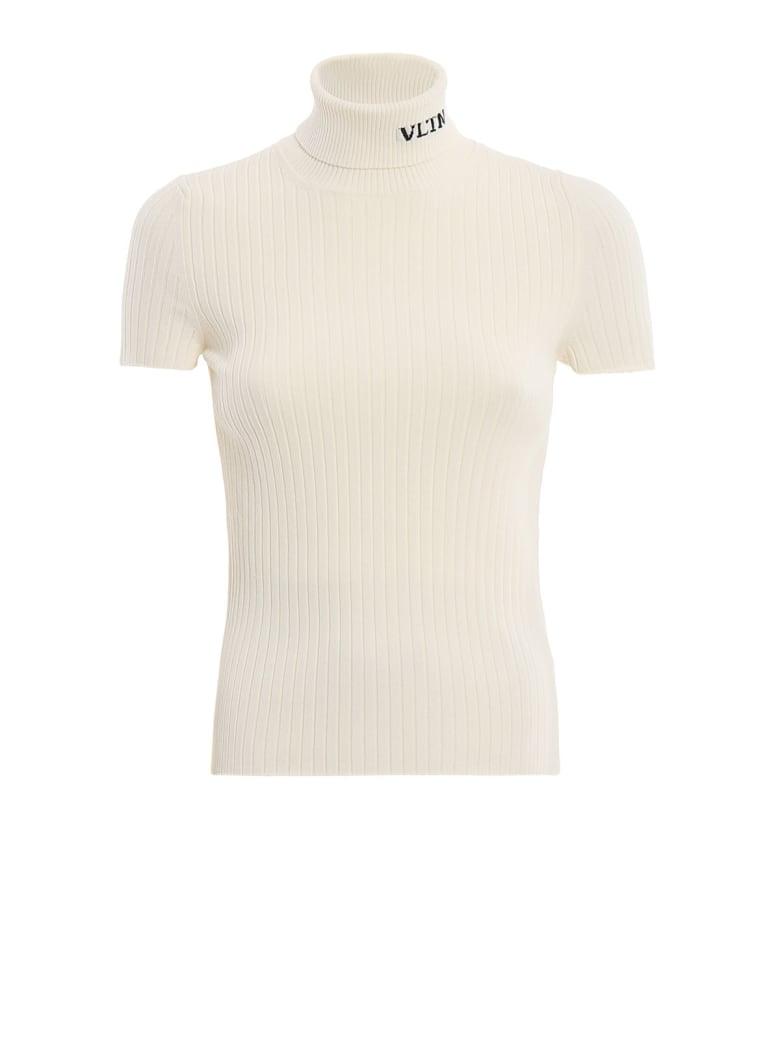Valentino S/s Turtleneck Sweater - An Avorio/nero