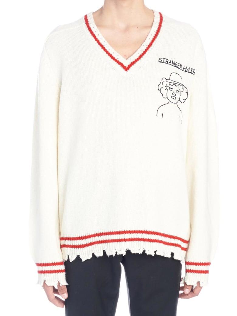 Riccardo Comi 'stranger Hair' Sweater - White