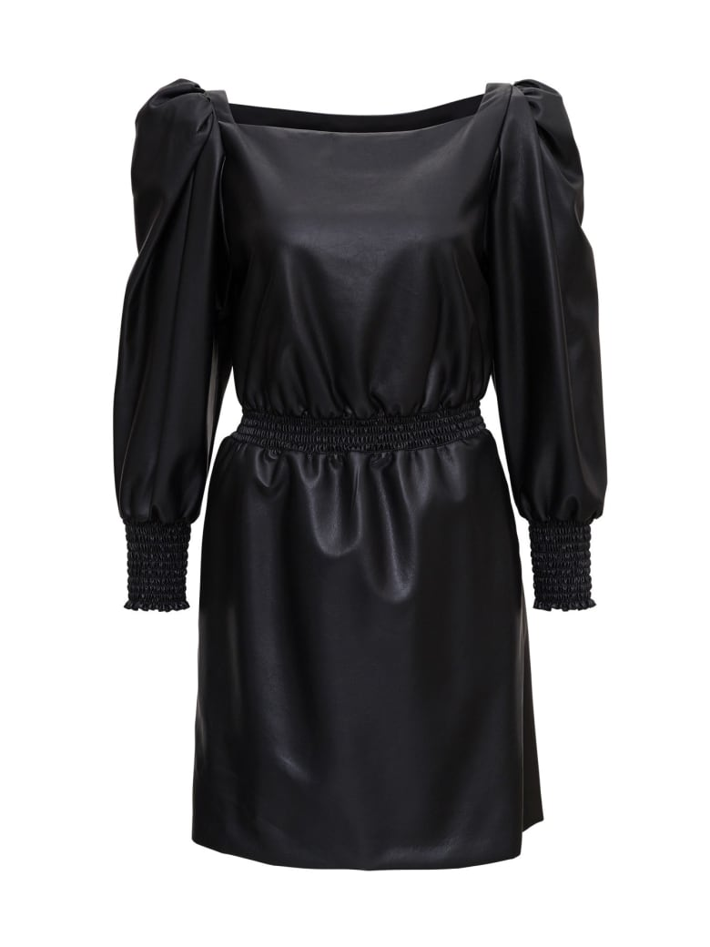Philosophy di Lorenzo Serafini Leatheret Dress - Black
