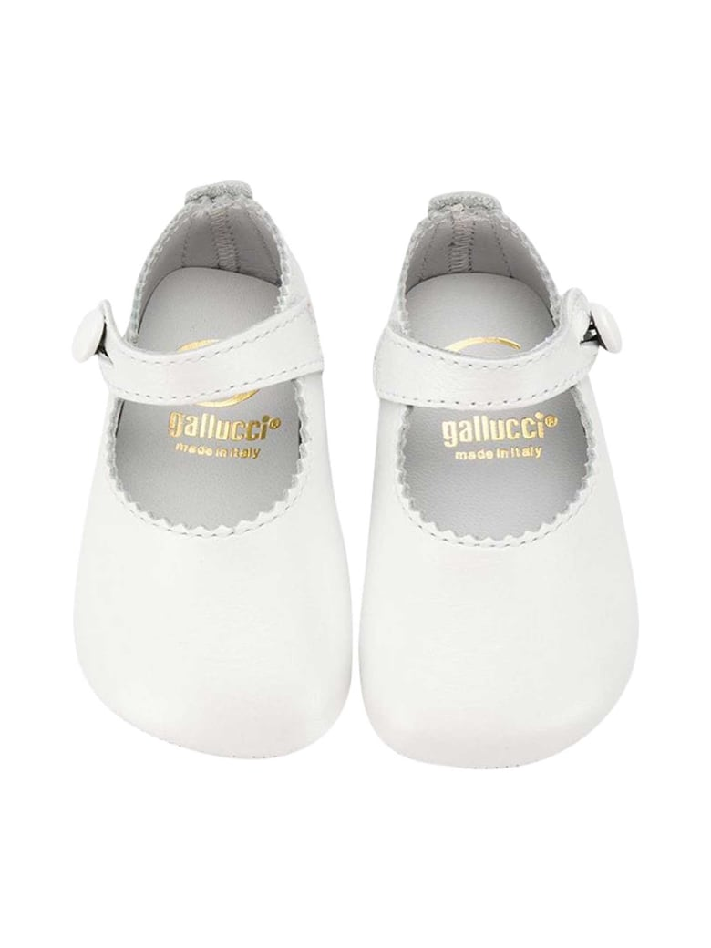Gallucci White Shoes Kids - Unica