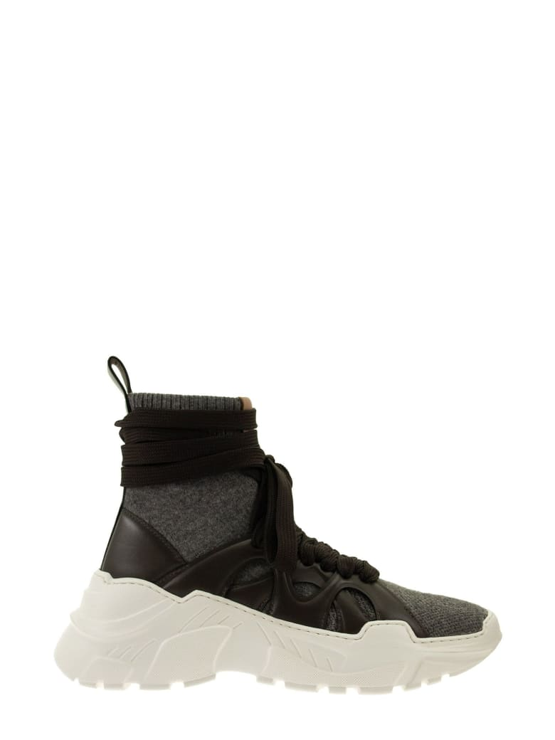 Agnona 2.28 Cashmere Sneakers - Charcoal