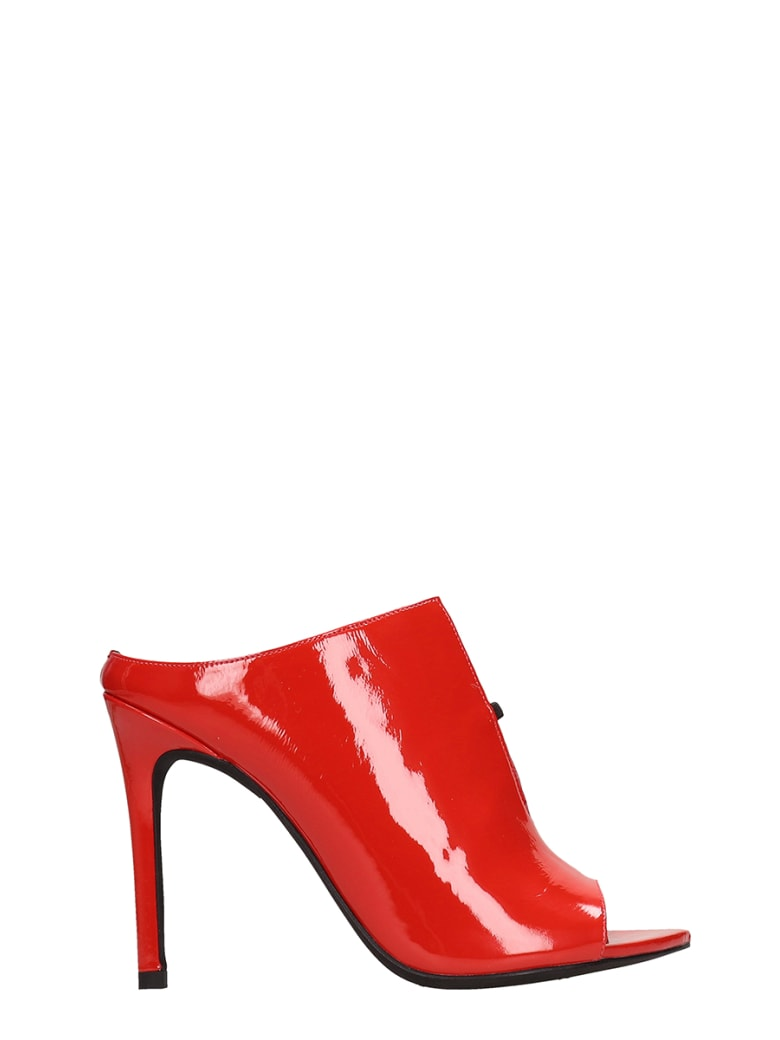 Jeffrey Campbell Red Patent Leather Sandals - red