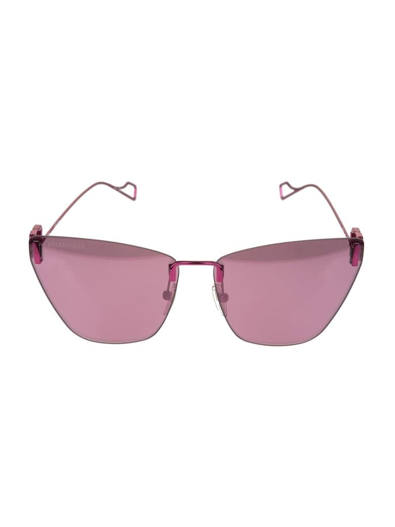 Balenciaga Pink Light Cat Woman Sunglasses - Purple