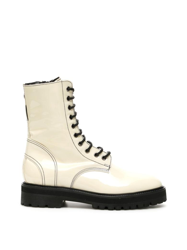 Dawni Patent Boots - OFF WHITE (White)
