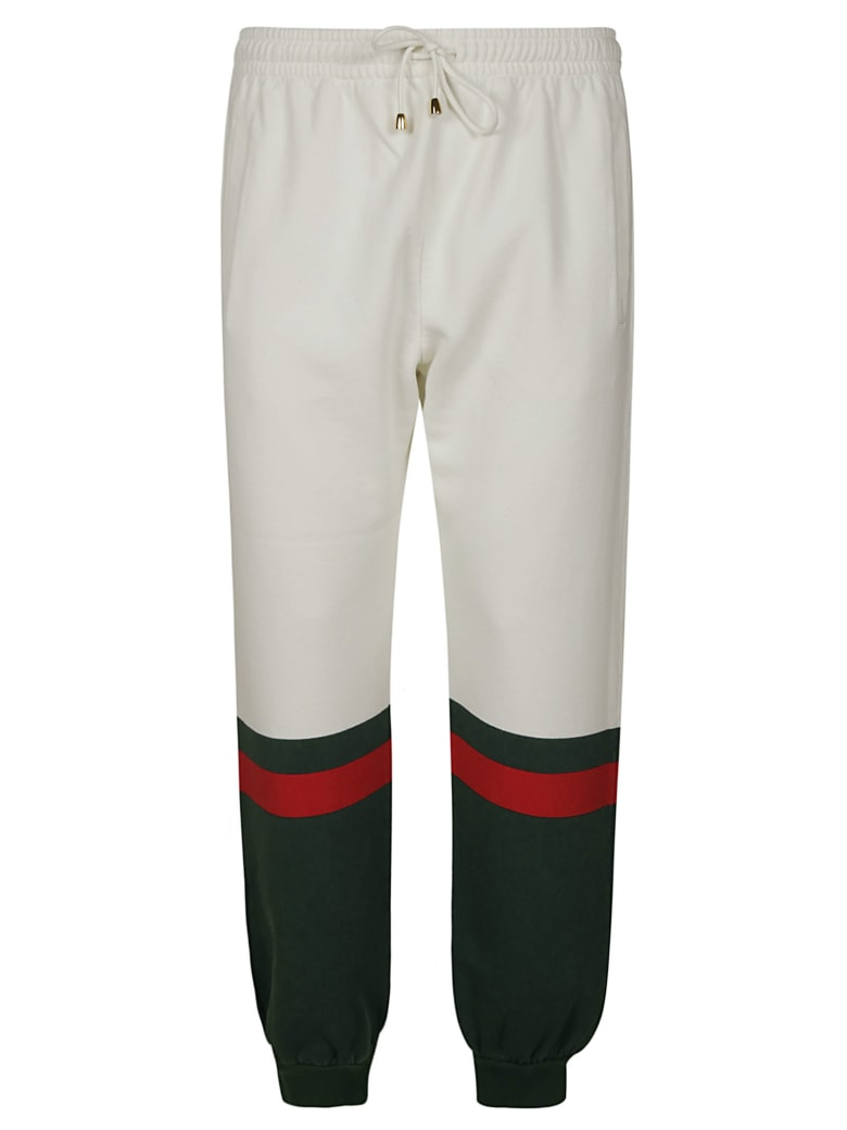 Gucci Drawstring Track Pants - White/Green