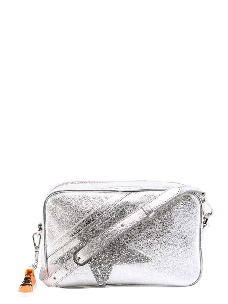 Golden Goose Star Crystal-embellished Crossbody Bag - Silver