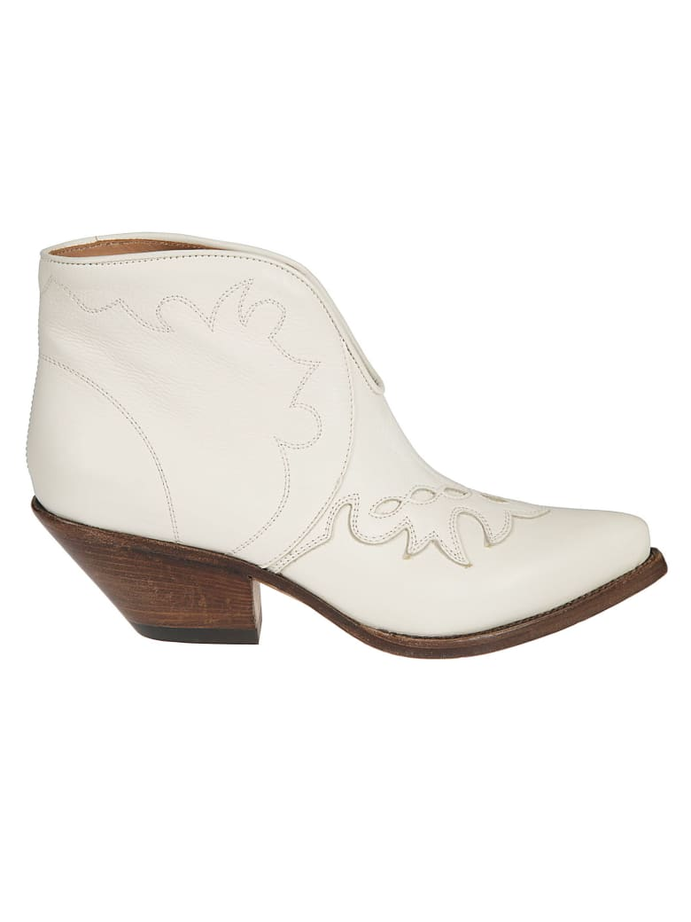 Buttero Stitched Ankle Boots - Panna