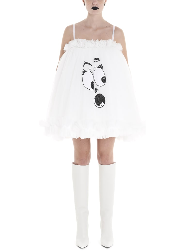 Moschino 'pumpkin Face' Dress - White