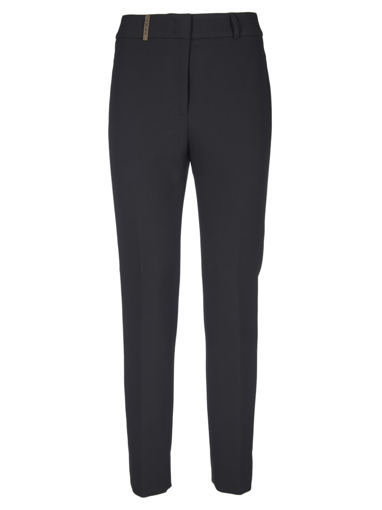 Peserico Woman Slim Fit Trousers - Black