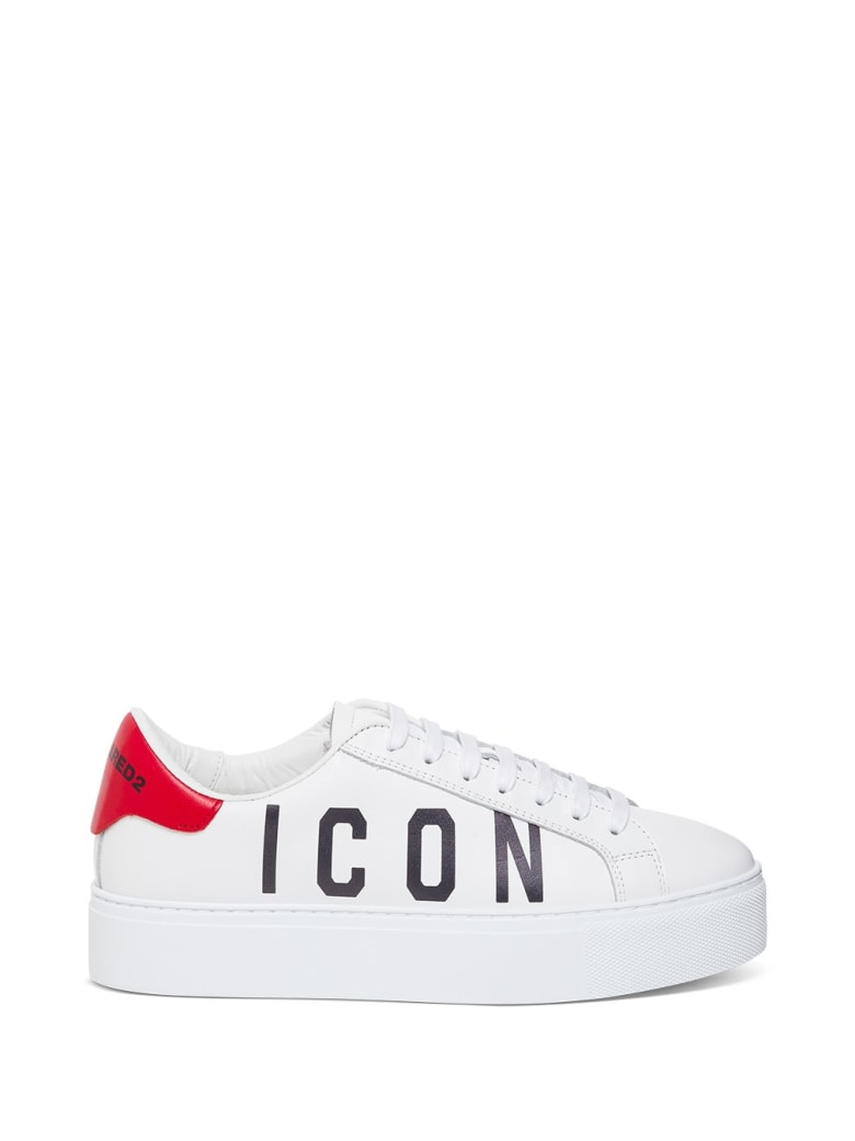 Dsquared2 Icon Leather Sneakers - White