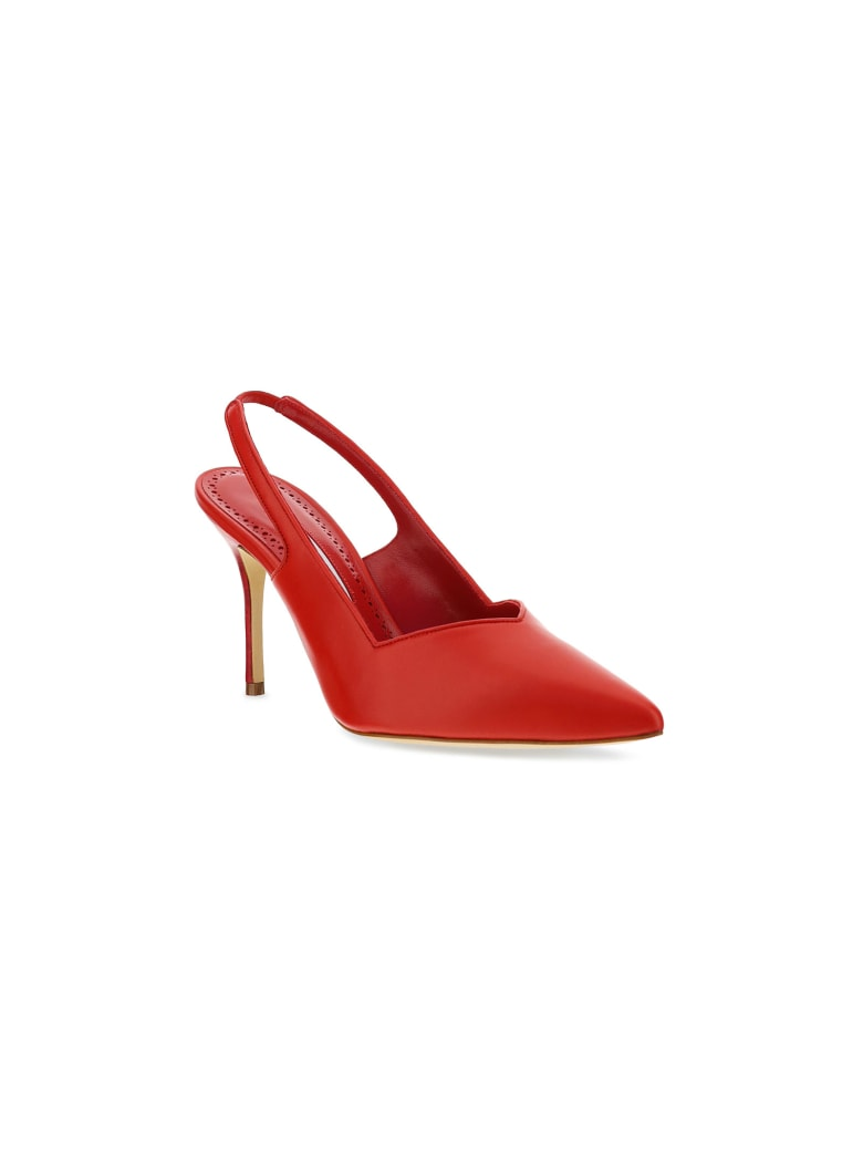 Manolo Blahnik Slingback Pumps - Red