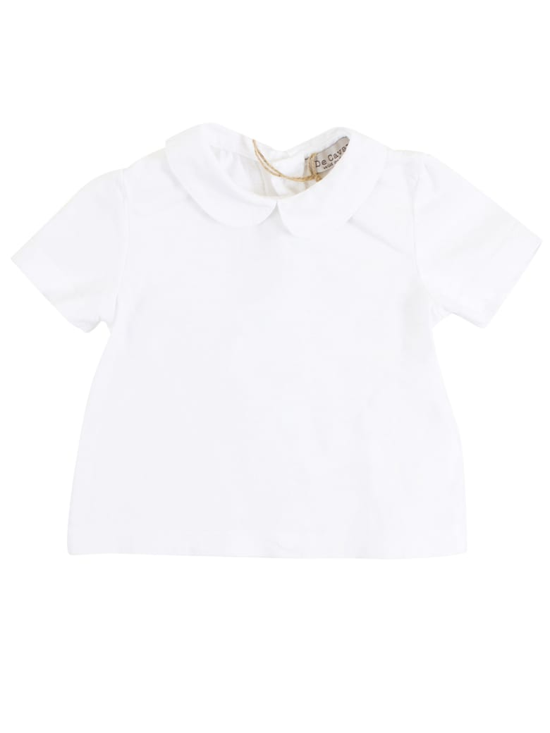 De Cavana Baby T-shirt With Collar - White
