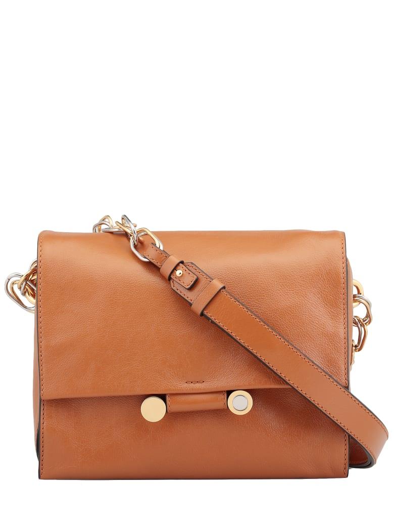 Marni Shoulder Bag Leather - BROWN