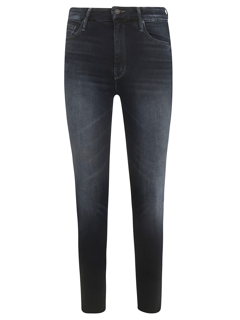 Mother High-waisted Looker Ankle Fray Jeans - Blue