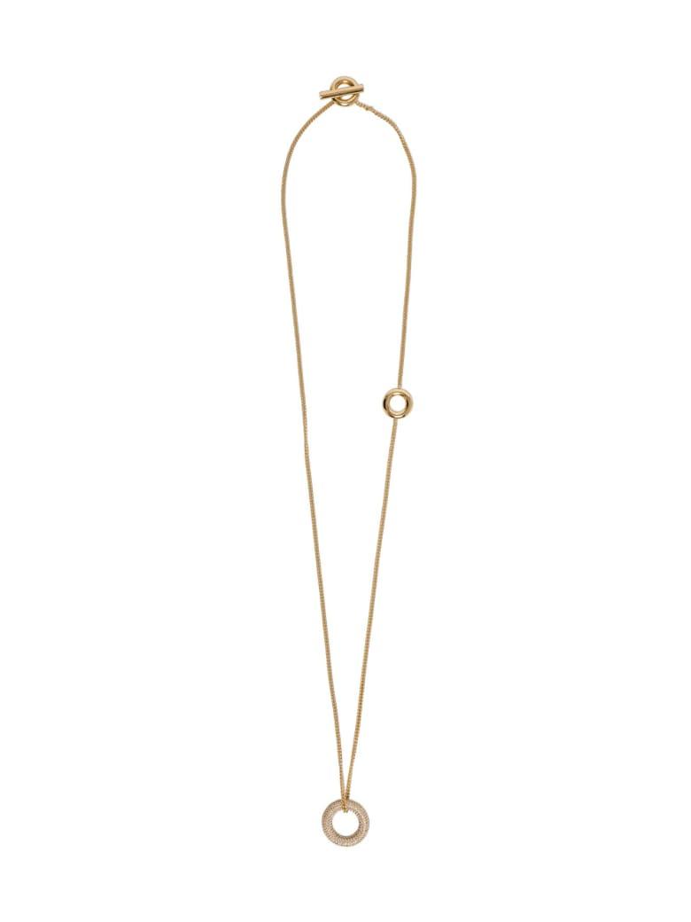 Jil Sander Golden Necklace With Circles - Metallic
