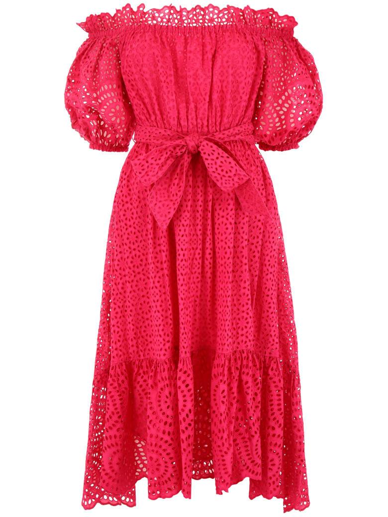 Ulla Johnson Sangallo Lace Hollie Dress - FUCHSIA (Fuchsia)