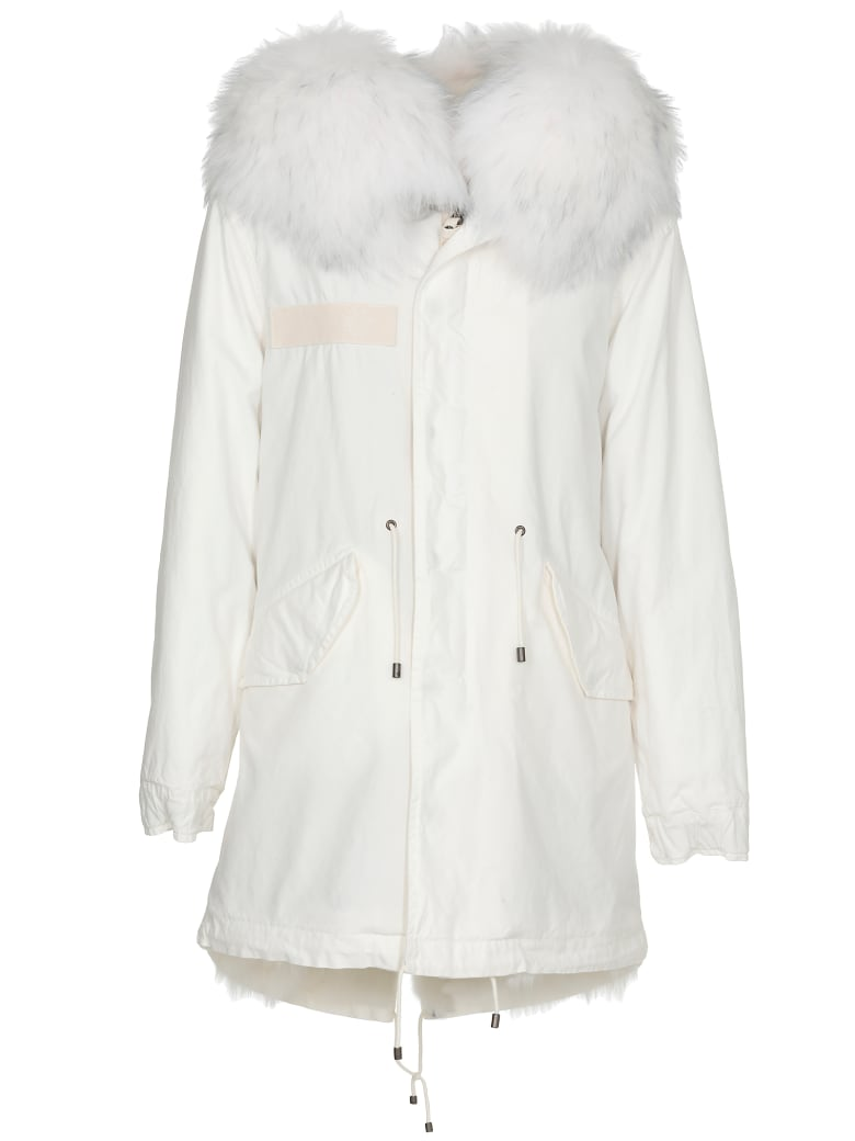 Mr & Mrs Italy Cotton Parka - OLD IVORY/WHITE/WH RACOON