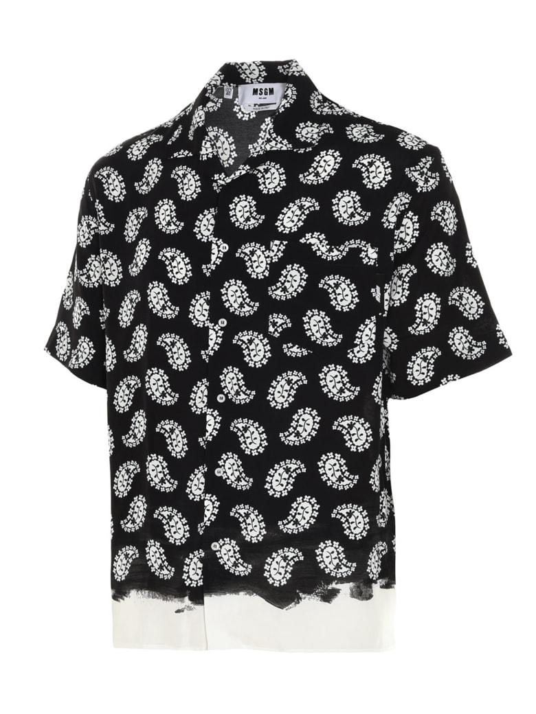 MSGM 'paisley' Shirt - Nero