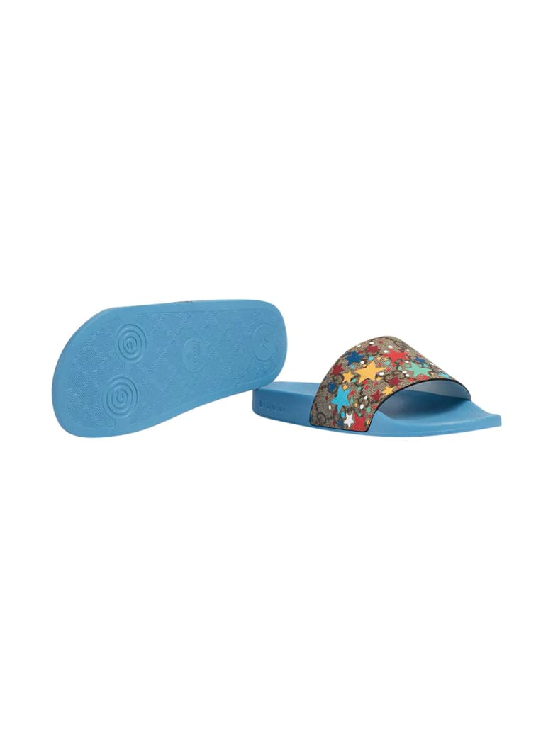 Gucci Blue Slippers