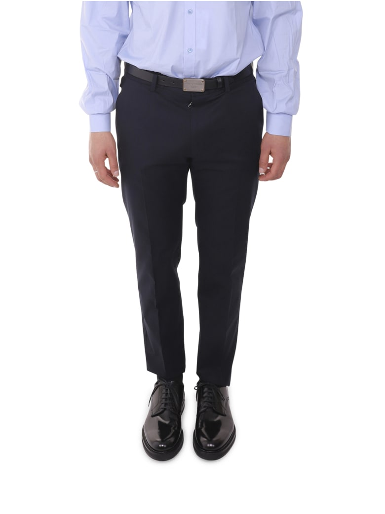 Dolce & Gabbana Navy Trousers - Blue