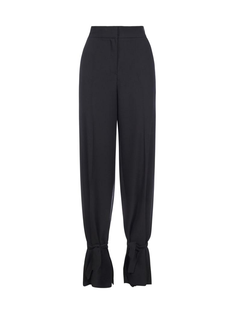 Blanca Vita Philomena Tie-detail Trousers - Nero