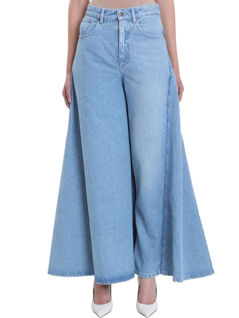 Y/Project Blue Skirt Jeans - blue