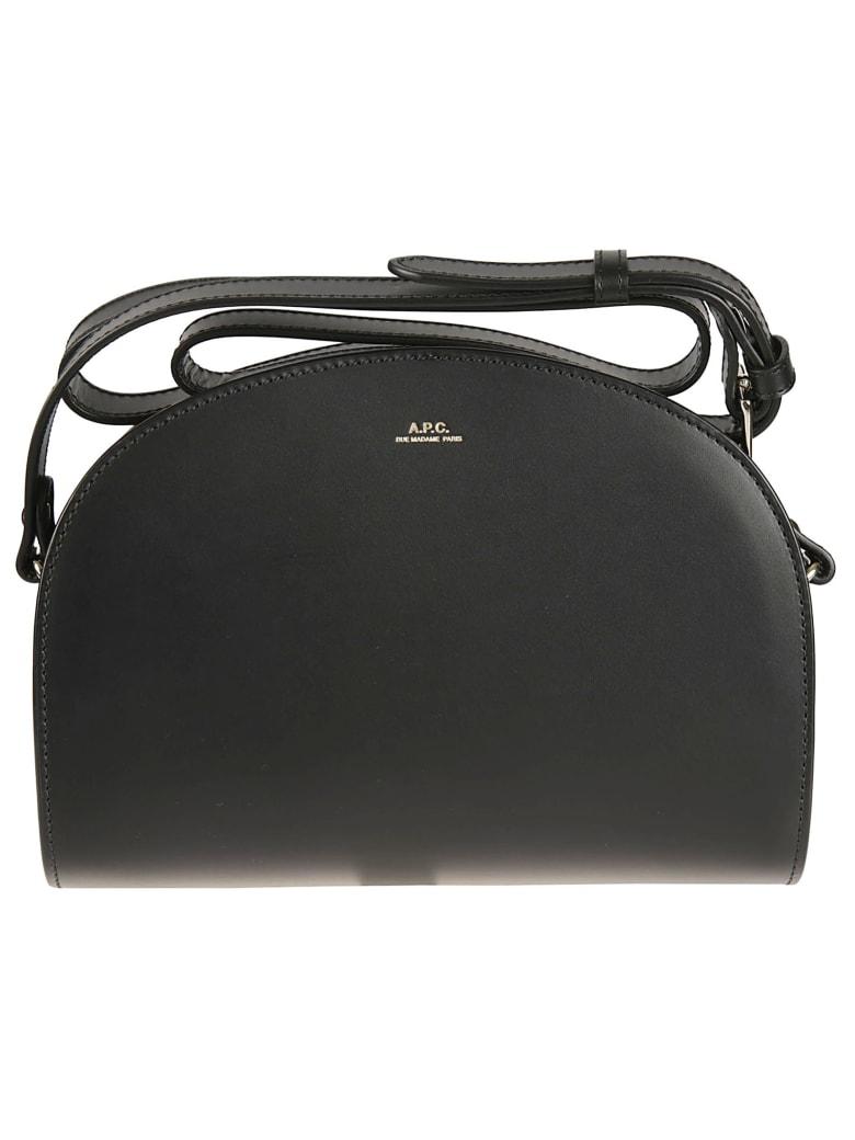 A.P.C. Demi-lune Crossbody Bag - Black