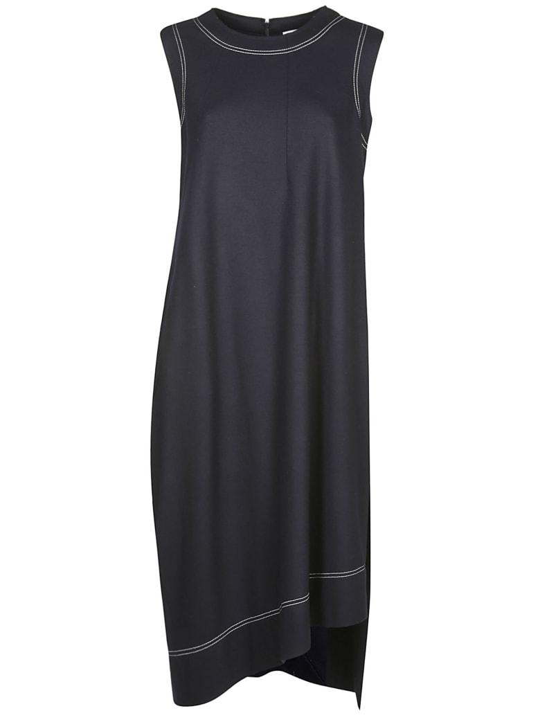Jil Sander Asymmetric Sleeveless Dress - Blue