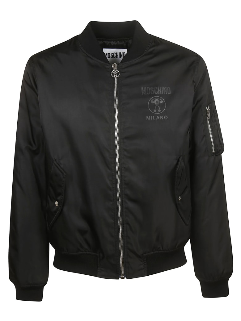 Moschino Zipped Bomber - black