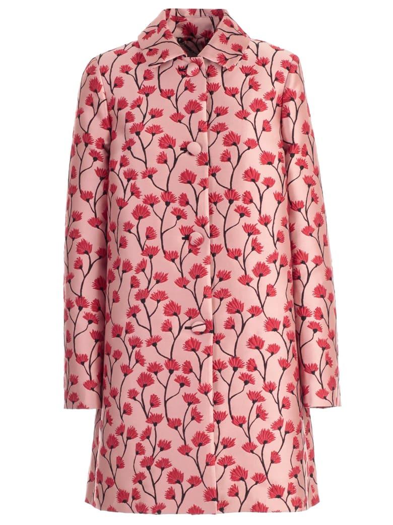 Be Blumarine Coat Flowers Printing W/stripe - Rosa