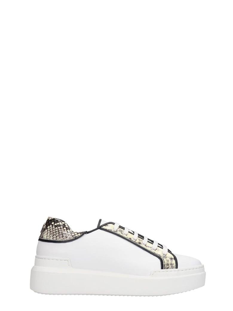 Paula Cademartori Sneakers In White Leather - white