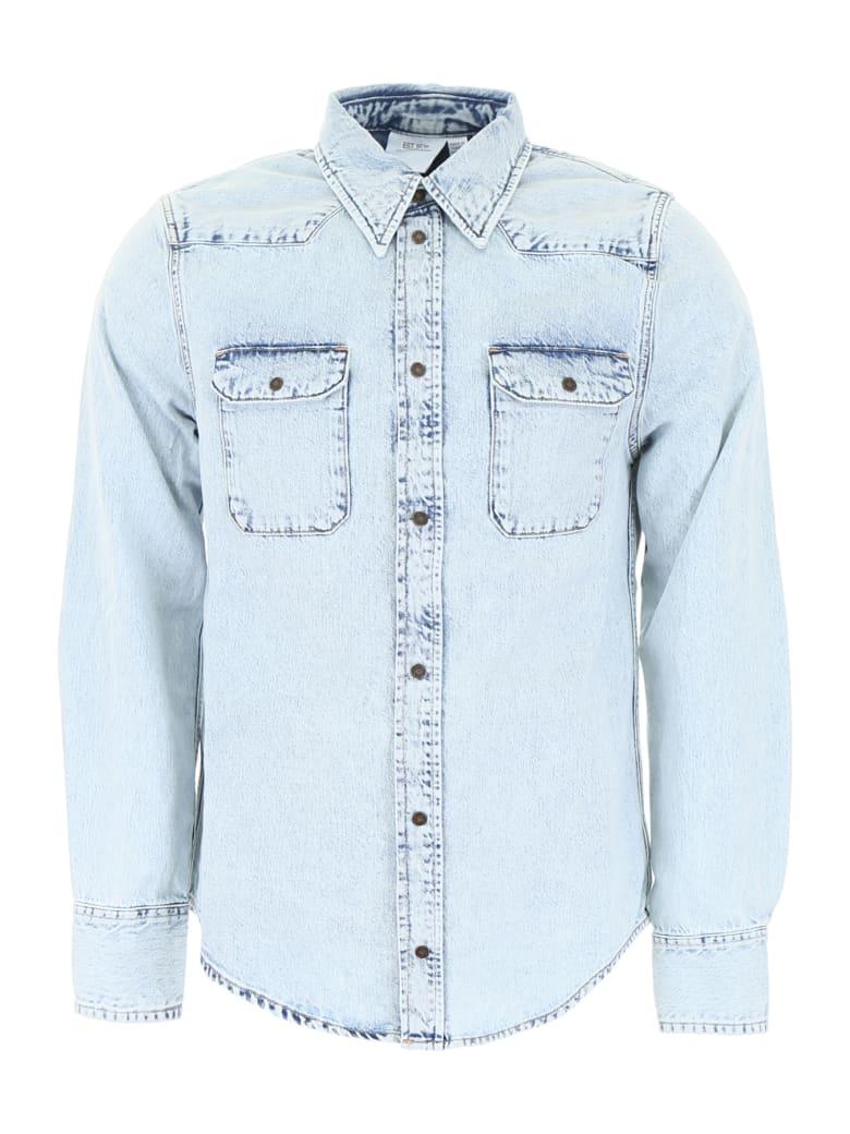 Calvin Klein Denim Western Shirt - ACID LIGHT INDIGO (Light blue)