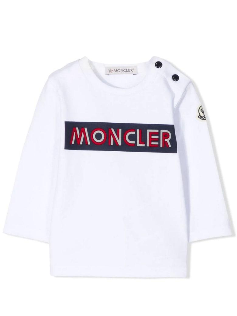 Moncler White Cotton T-shirt - Bianco