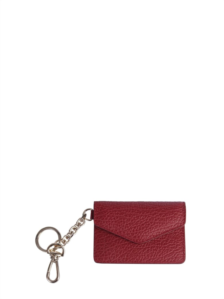 Maison Margiela Wallet With Keyring - ROSSO