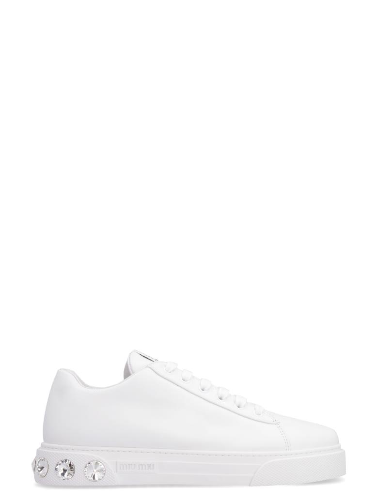 Miu Miu Leather Low-top Sneakers - White