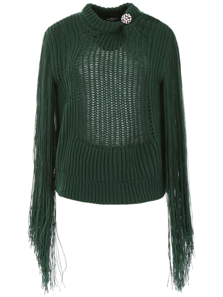 Calvin Klein Fringed Knit - GREEN (Green)