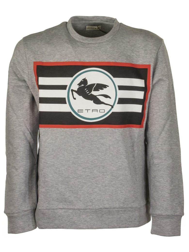 Etro Sweatshirt With Printed Pegaso Logo - Grey