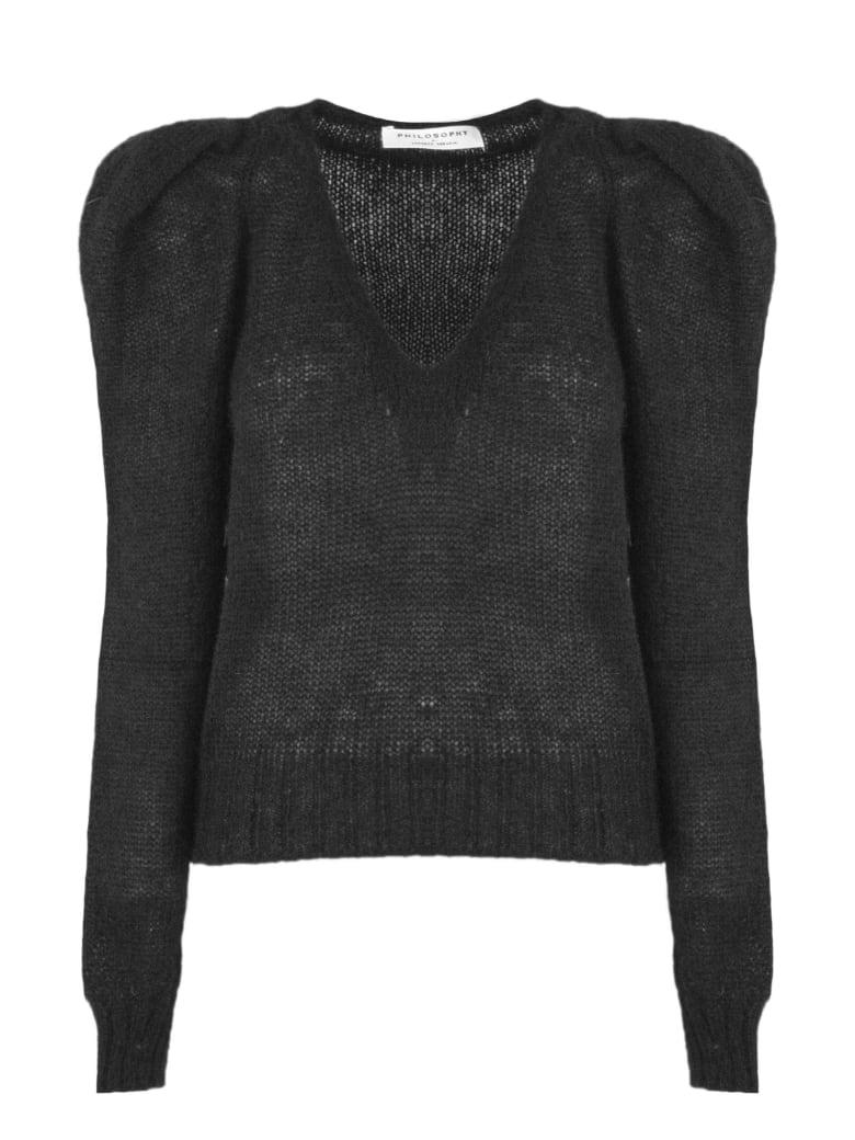 Philosophy di Lorenzo Serafini Black Mohair Blend Sweater - Nero