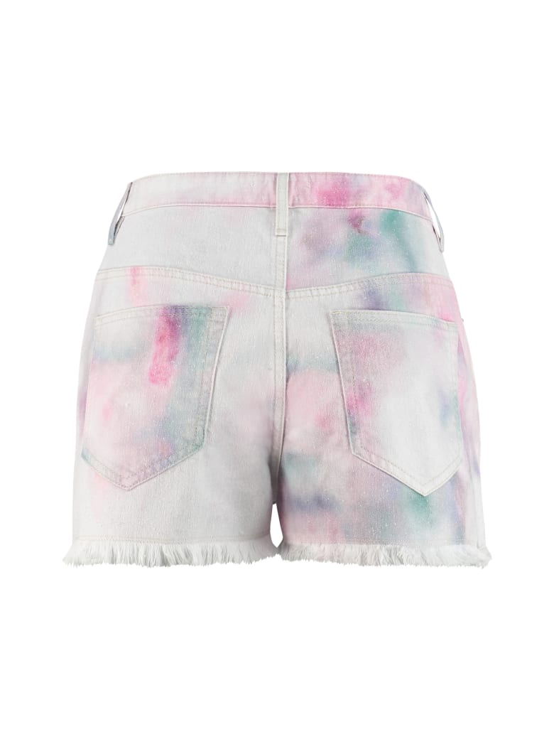 Isabel Marant Lesia High-rise Cut-off Denim Shorts - Multicolor