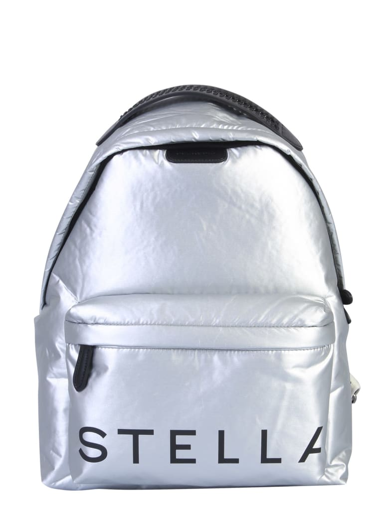 Stella McCartney Falabella Logo Backpack - Argento