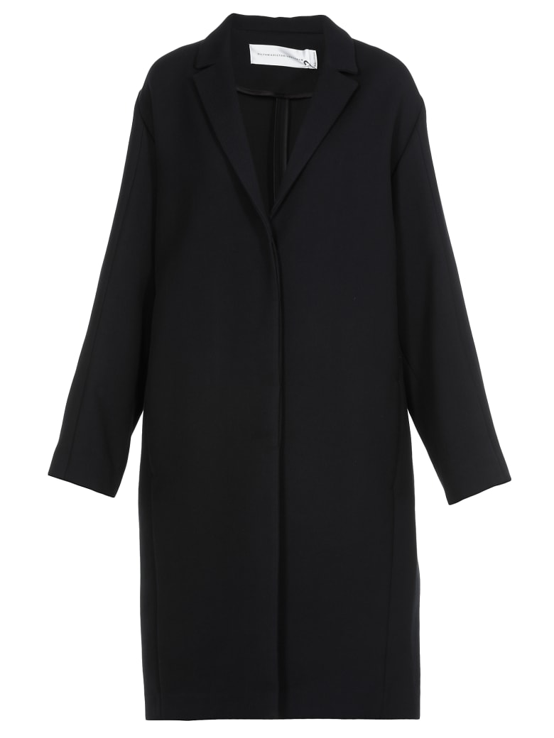 Victoria Victoria Beckham Single-breasted Coat - MIDNIGHT