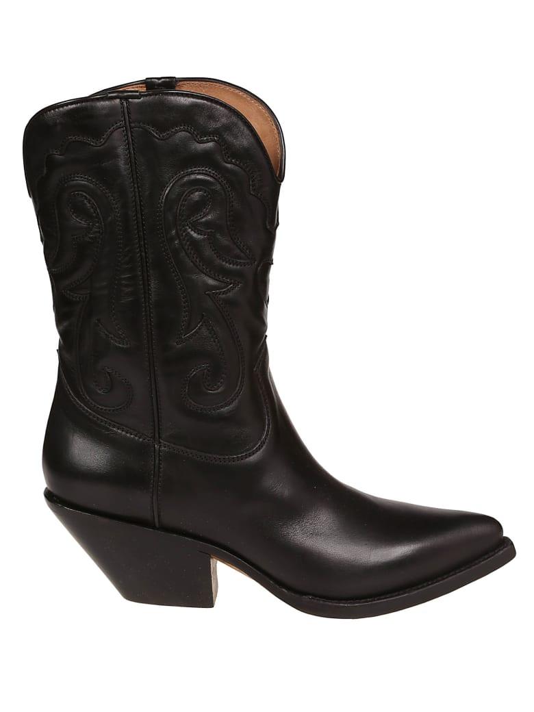 Buttero Almond Toe Ankle Boots - Nero