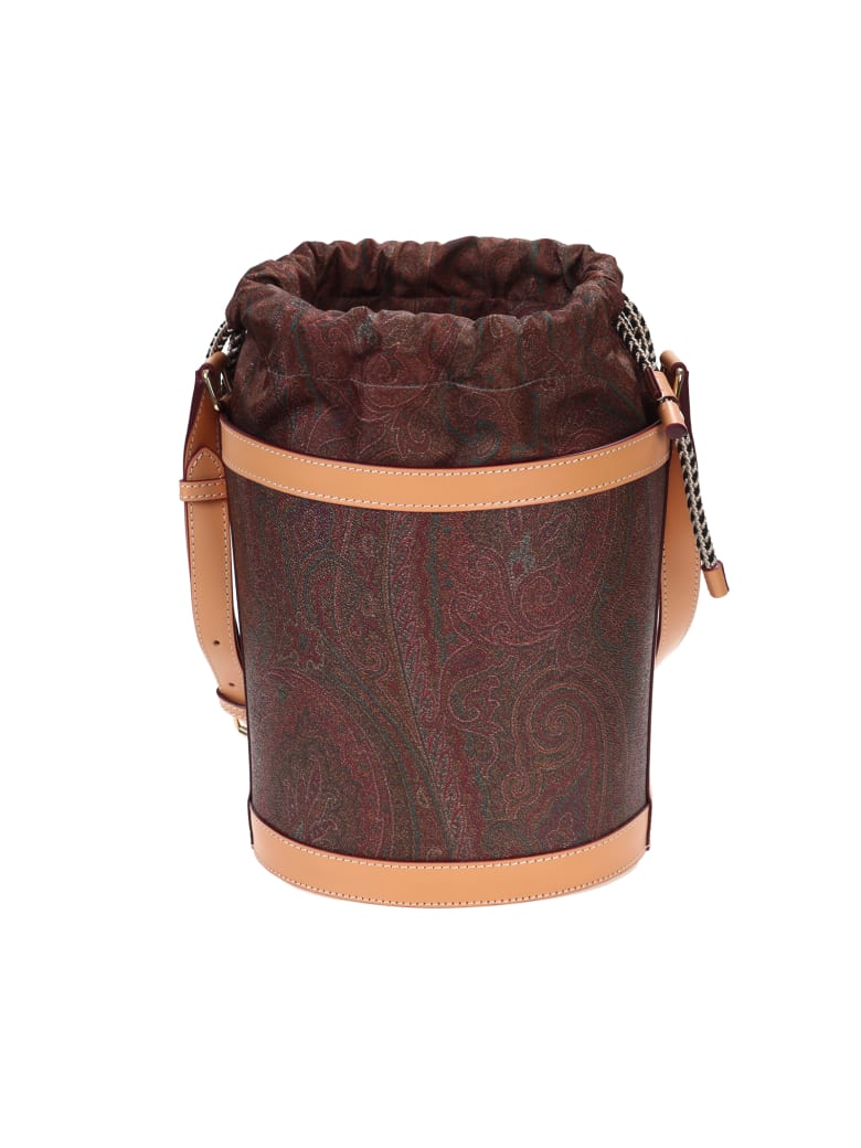 Etro leather bucket bag - Fantasia
