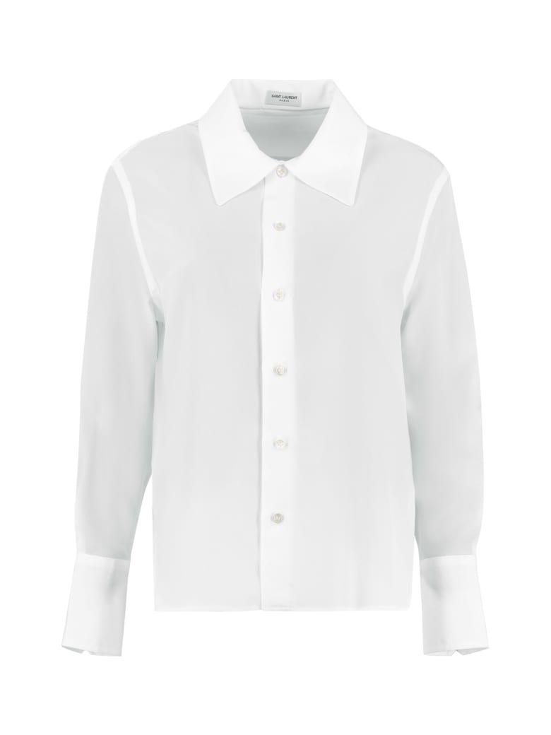 Saint Laurent Silk Shirt - White